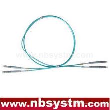 10Gb Corning Cable de fibra óptica, LC-LC, Multi Mode, Duplex (Tipo 50/125) Aqua