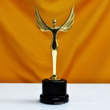 Oscar Sports Event Crystal Trophies Awards Logotipo personalizado Words Champions Cup Trophy