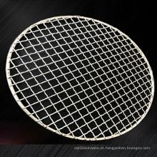 Rede de arame para churrasco em aço inoxidável torrado a carvão