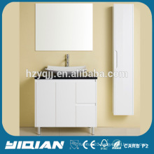 Black Counter Top White Matt Painting Modern Bathroom MDF Floor Furniture