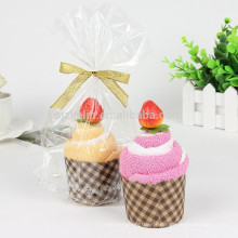 2018 new products cotton french terry fabric cupcake towel for festival gift