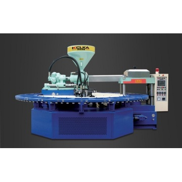 Otomatis Rotary PVC Air Blowing Injectiong Molding Machine