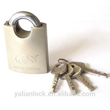 Heavy Duty NIckel Plated Vane Key Shackle Protected Padlock