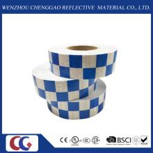 Fita refletora de design azul / branco de grade (C3500-G)