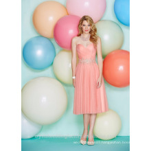Wholesale Good Quality New Cheap Sweetheart Tulle Lace formal Short Beach Bridesmaid Dresses LBS03