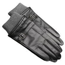 klassischer windfester Lederhandschuh für Männer