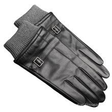 classical fashion windproof sheepskin leather men glove