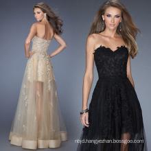 Ladies Evening Dress Applique Design Feast Long Black Skirt
