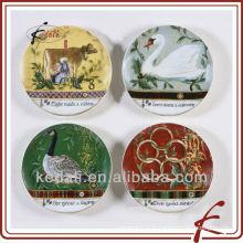 Китай завод Красивые керамические украшения фарфора плита
