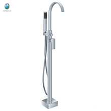 KFT-09 diseño popular grifo de ganso grifo de la ducha grifo de la bañera de válvula de cerámica grifo independiente de cobre sólido