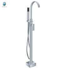 KFT-09 conception populaire goose bec salle de douche matériel de montage en céramique robinet de baignoire robinet solide cuivre autoportant robinet