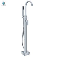 KFT-09 popular design goose spout shower room hardware fitting ceramic valve tub faucet solid copper freestanding faucet