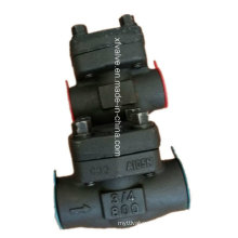 API602 Выкованная сталь углерода a105 конце подъема резьбы обратный клапан