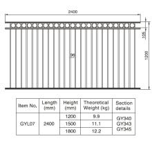 Decorative Aluminum Black Fence Section