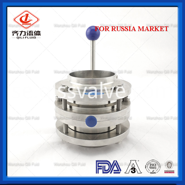 Sanitary Stainless Steel Butterfly Valve 115