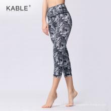 custom adults sublimation capri fitness pants active women's workout leggings
