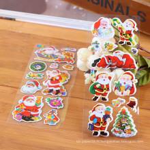 Autocollants en papier de décoration bon marché de Santa Sticker vinyle brillant