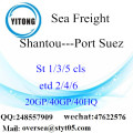 Shantou Port Sea Freight Shipping ke Port Suez