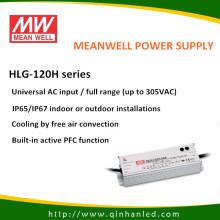 Драйвер светодиода питания питания IP65 120W (Meanwell HLG - 120H)
