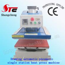Automatische Single Station Transferpresse Maschine 40 * 50 cm Pneumatische Zeichnung Wärmeübertragung Maschine T-Shirt Wärme Druckmaschine Stc-Qd08