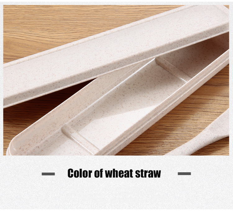 Wheat Straw Spoon Fork Knife Set