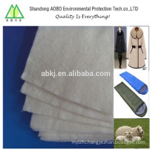 70% wool needle-punched felt for clothing