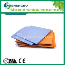 Aguja perforada tela de tela no tejida naranja 50 * 70 cm azul 38 * 38 cm