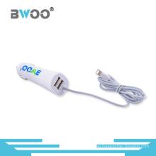 Cargador de coche USB universal de 2 puertos con cable para todos los móviles