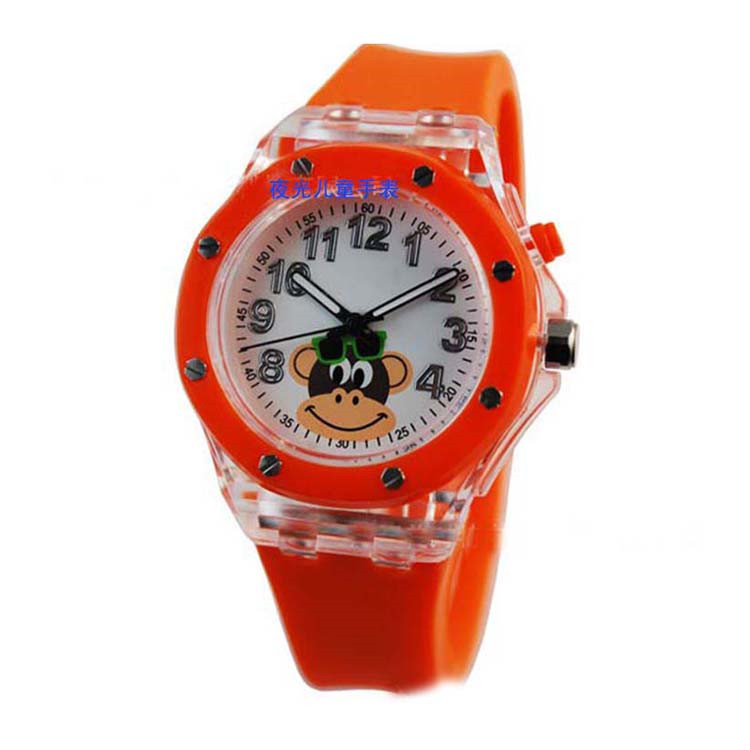 Fashion silicone jelly watch for children