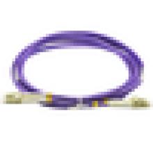 LC duplex duplex OM4 duplex, cabo de conexão de fibra óptica, jumper multimodo