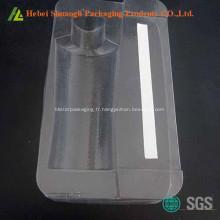 Paquet de plateau cosmétique en plastique transparent