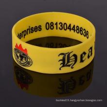 Custom sport bracelet wristband silicone wristbands for men