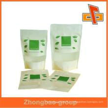 Personalizado popular papel durável zip lock bag para alimentos