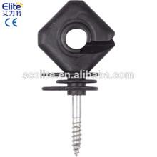 poste de madeira screw-in Isoladores para energizante de vedação