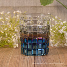 Wedding Decor Basket Pattern Glass Candle Jar