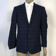 Business gestreifte Wolle Blazer Anzüge für Männer