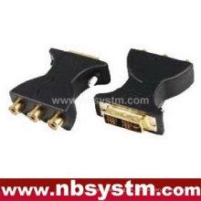 DVI (18 + 5) Stecker auf 3RCA Buchse Adapter