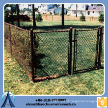 Chain link fence with PVC coated for playground garden highway