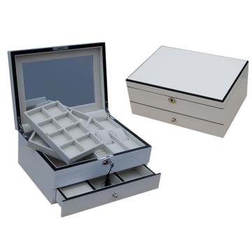 Zwei Schichten Ladies White Jewelry Box