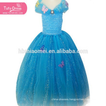 Cinderella Dress Girls Princess Children Kids Christmas Halloween Cosplay Costume Sequins Tutu Dress Vestidos