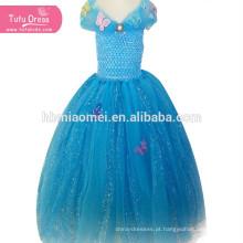 Vestido de Cinderela Meninas Princesa Crianças Crianças de Natal do Dia Das Bruxas Traje Cosplay Lantejoulas Tutu Vestido Vestidos