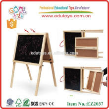 hot selling new design antique wooden easel OEM double sides mini wood easel EZ2037