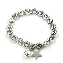Серебряный браслет из ретро-звезды и луны