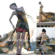 Astergarden photo réelle sweetheart imprimé robe de soirée sexy AS136