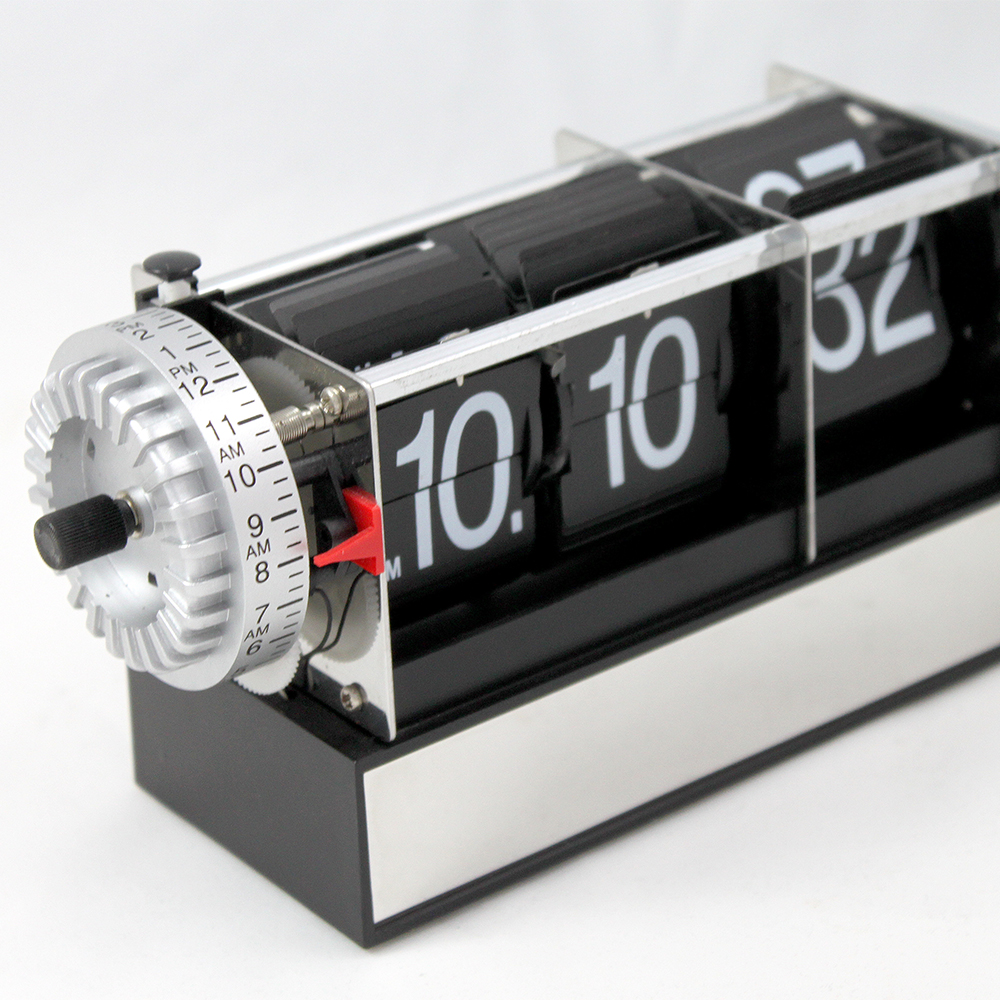 vintage alarm clocks with flipping numbers