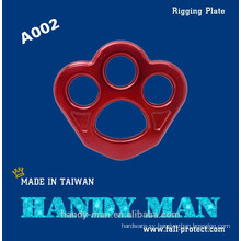 A002 Aluminum Small Size Climbing Rigging Plate