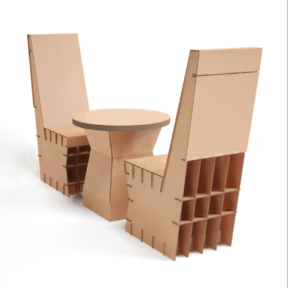 Corrugated environment-friendly furniture