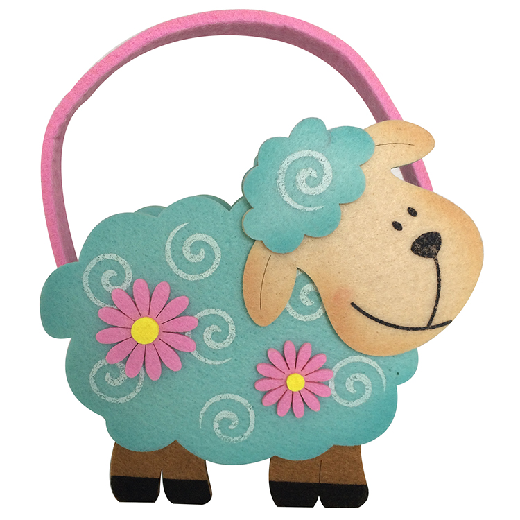 Easter Sheep Shape Tote Bag