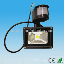 IP65 al aire libre impermeable 12-24v 100-240v luz 10w luz oscura y el sensor
