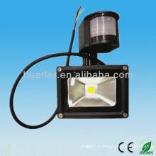 IP65 extérieur imperméable à l'eau 12-24v 100-240v 10w lumière lumière et sombre lumière